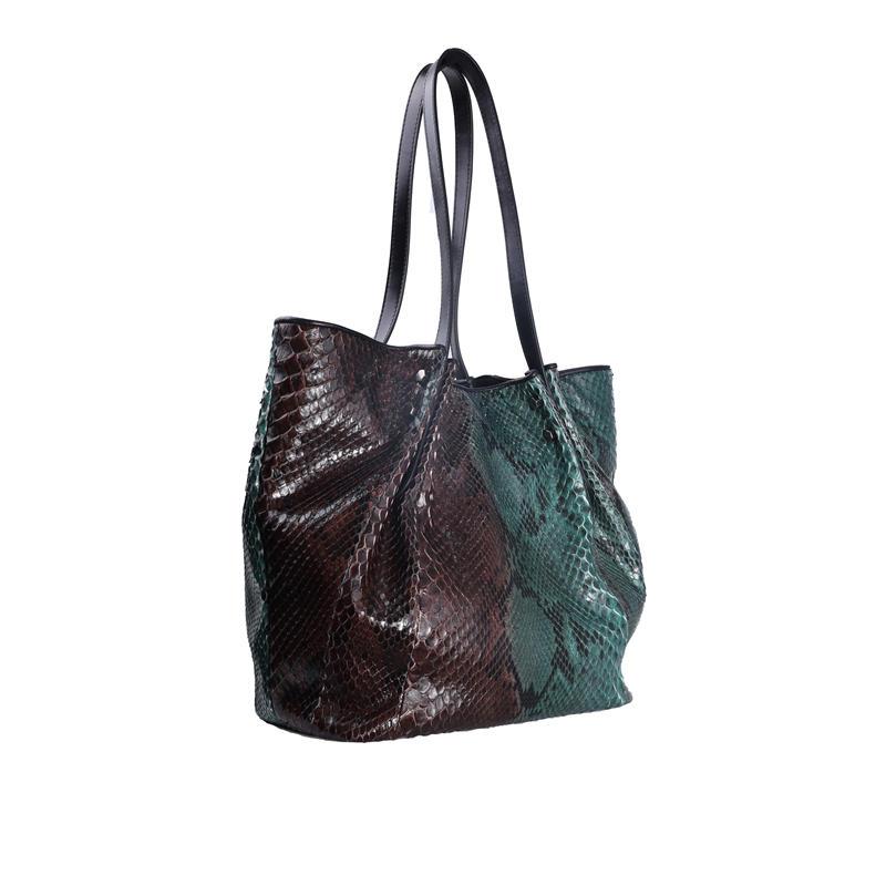Female Crossbody Bags For Women 2020 High Quality PU Leather Snake Pattern Luxury Handbag Designer Shoulder Messenger Bag