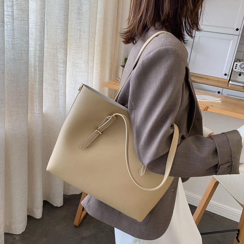 Women Bag Solid Women's PU Leather Handbags Luxury Lady Hand Bags Purse Pocket Women Composite Bag Big Tote Sac Bols