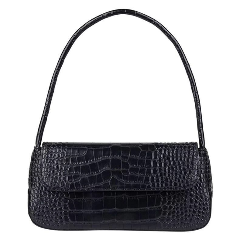 Vintage Fashion Crocodile Tote Bags 2020 Luxury Handbags Woman Bags Designer Baguette Shape Subaxillary bag Female Shoulder Bag