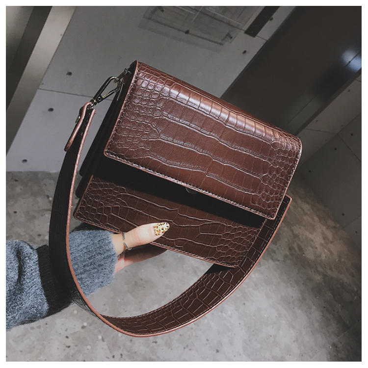 Women's Designer Luxury Handbag 2020 Fashion New High Quality Leather Women Handbags Crocodile Pattern Shoulder Messenger Bag