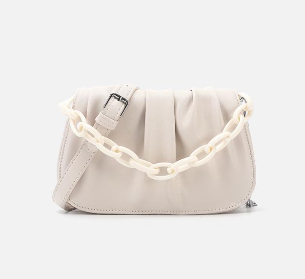 Chain Design New PU Leather Bags For Women Sling Handbag Purse Women Elegant Chain Shoulder Crossbody Bag Popular Messenger Bag