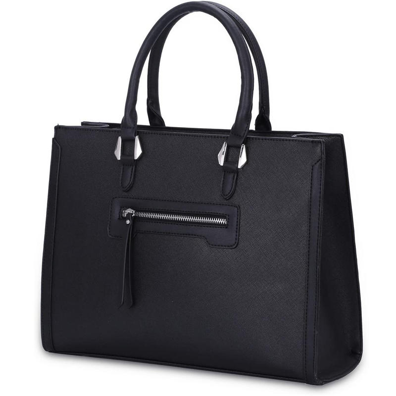Large Woman Handbag Rigid PU Leather Tote Bag Elegant City Work Bag With Multiple Pockets Large Capacity Shoulder Shopper bag