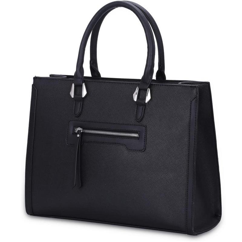 Large Woman Handbag Rigid PU Leather Tote Bag Elegant City Work Bag With Multiple Pockets Large Capacity Shoulder Shopper bag