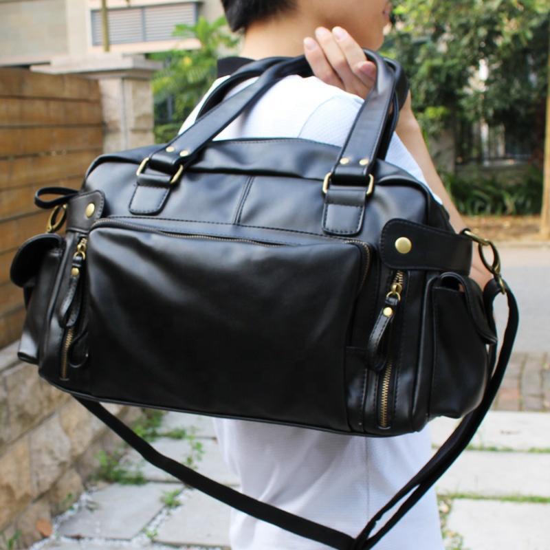 new product 2020 custom PU crossbody mens messenger bag