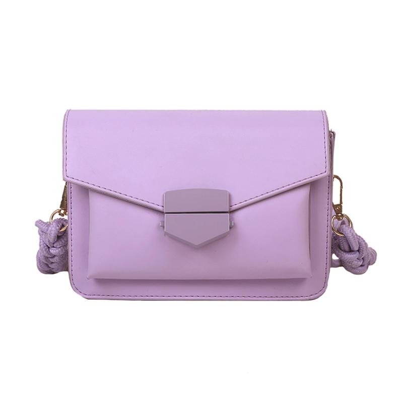 Women new arrival Candy Color body Bags Small Square Shoulder Handbags Female Purse Classic Elegant Cross body Shoulder Bag