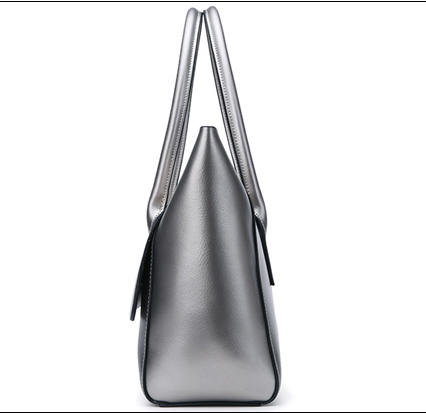 Factory top quality OEM lady silver custom hand bags pu leather designer girlluxury purses and handbags for women female