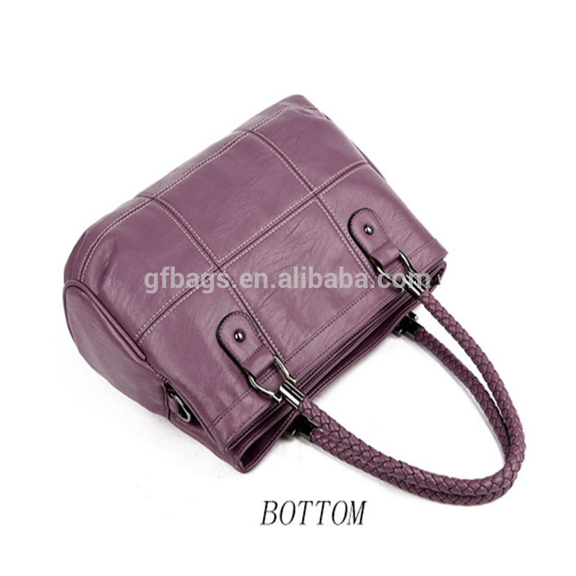 ks-028 Fashion Knitting Handle Women Tote Bags High Quality Pu Leather Handbags Women Famous Brands Patchwork Crossbody Bags