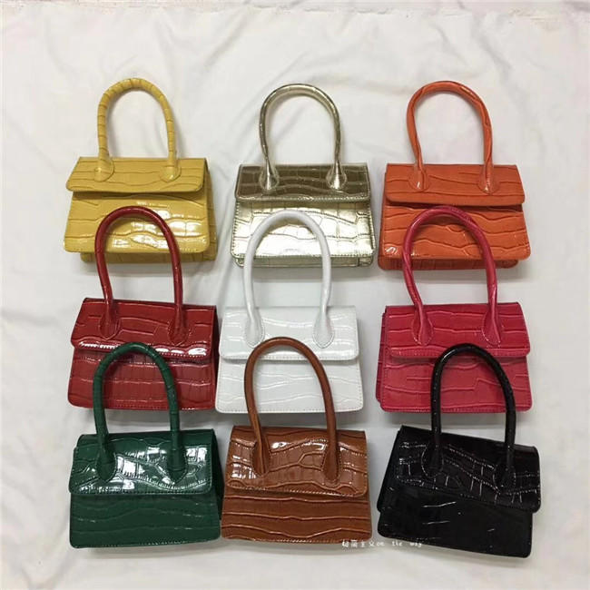2020 Newest Fashion High Quality Leather Women's Handbag Crocodile Pattern Chain Shoulder Messenger Bags