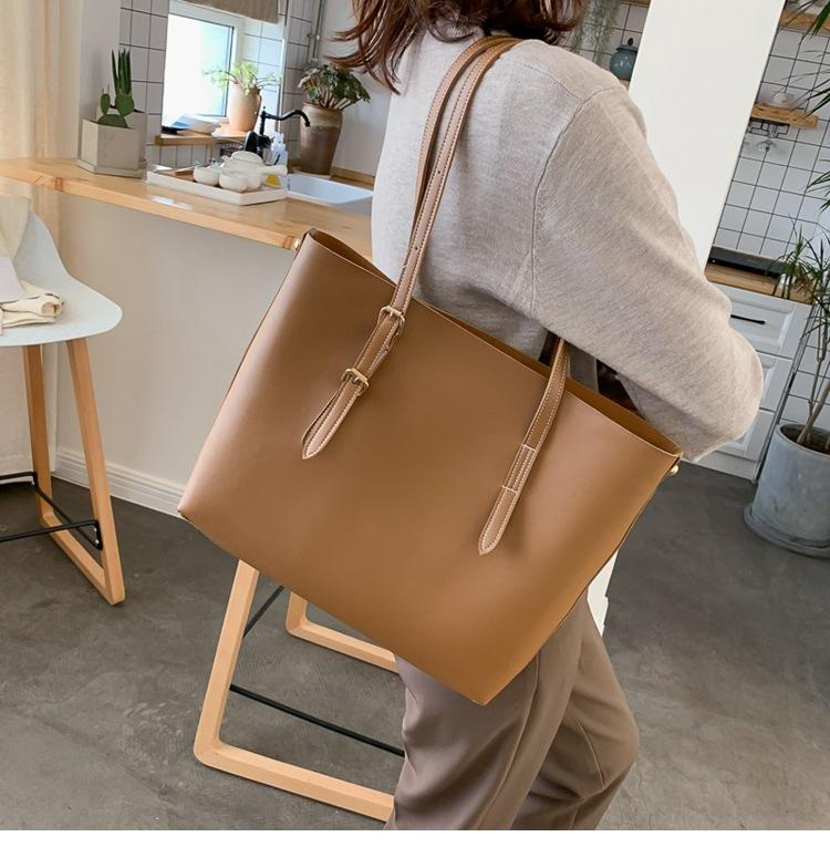 Women Bag Solid Women's PU Leather Handbags Luxury Lady Hand Bags Purse Pocket Women Composite Bag Big Tote Sac Bols