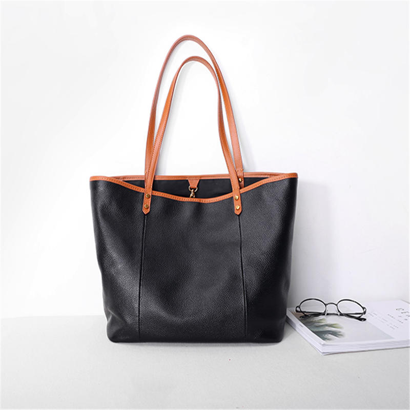 Women Tote Bag Female White Color Fashion Luxury Bags Casual Shoulder Handbag Lady Cowhide Genuine Leather Shoulder Shopping Bag