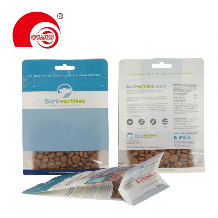 Custom Side Gusset Top Bird Rabbit Fish Plastic Cat Pet Dog Food Packaging Bag With Resealable Zipper