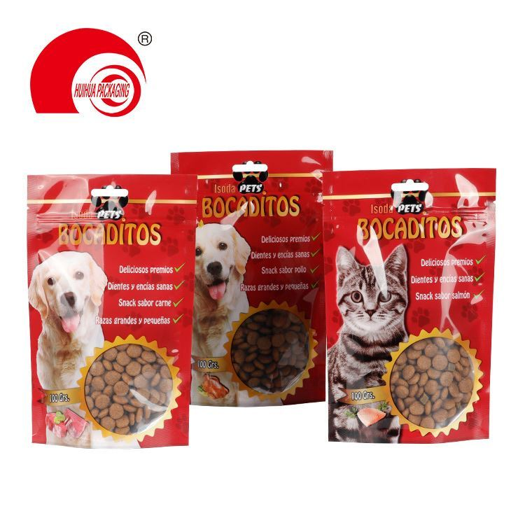 New design Production customized side gusset cat dog pet food packaging bag with resealable zip lock