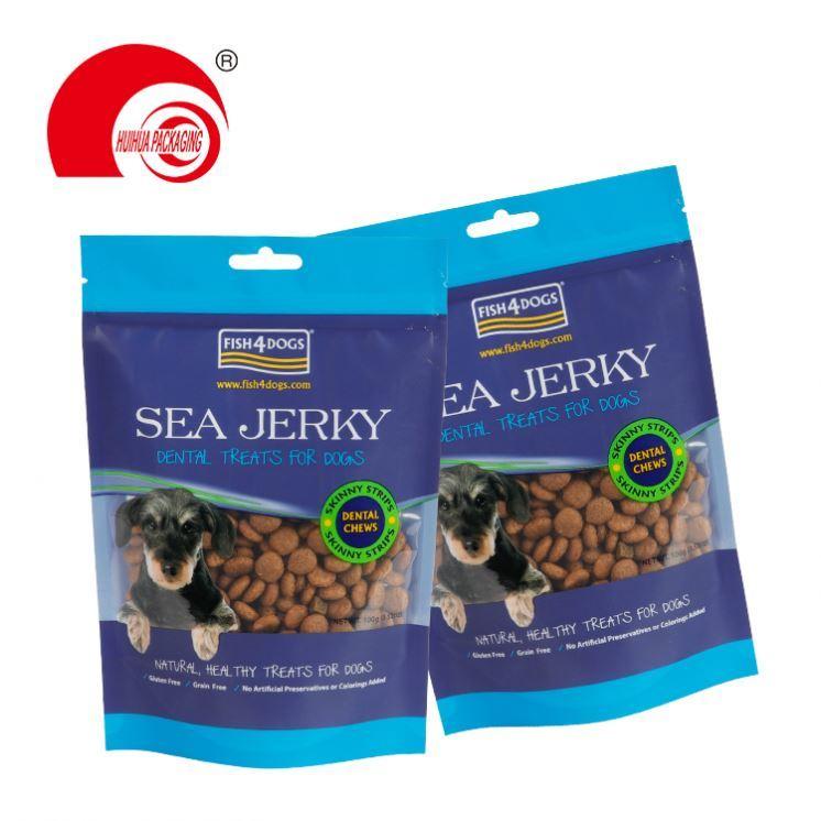 Square bottom customized printing package ziplock resealable pet food bag packaging