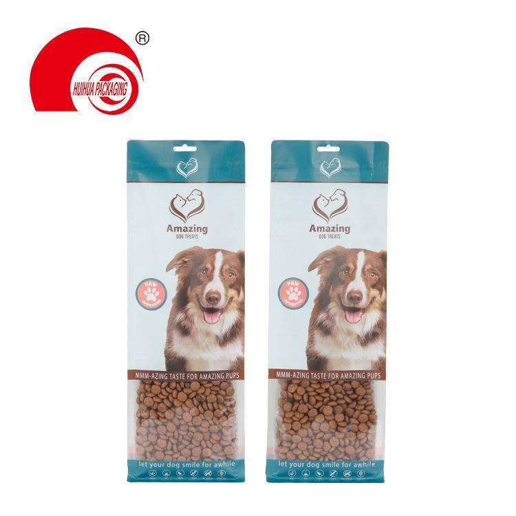 High Quality Flat Bottom Paper Plastic Pouch Zipper Bag Pet Dog Food Packaging Bag