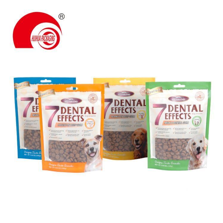 product-Huihua-Free Sample Custom Printing Logo Resealable Zip Lock Dog Food Packaging Bag Treats Sn