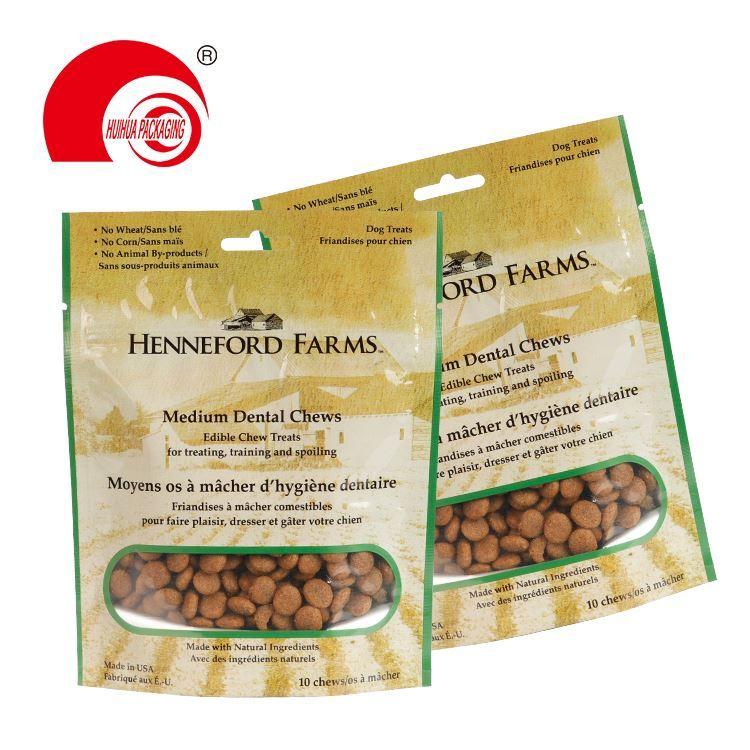 Custom Printed Dog Food Pouch Packaging Plastic Zip Lock Package Snack Pet Treat Food Bag
