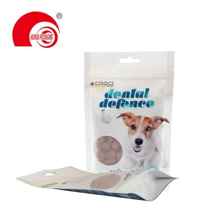 product-Huihua-Custom Metallic Mylar Plastic Flat Bottom Pouch Cat Dog Pet Food Packaging Bag With R