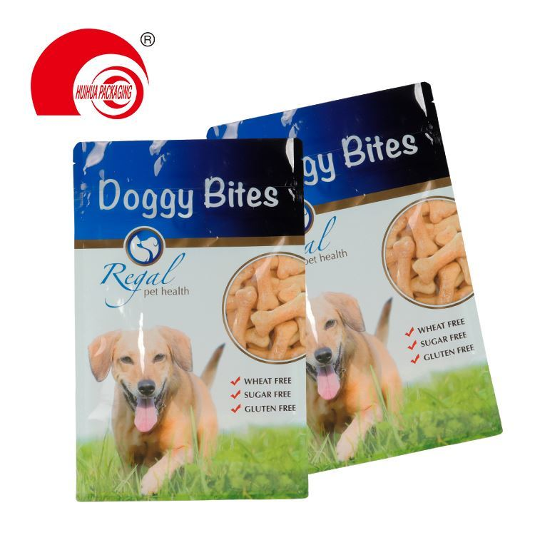 high quality custom resealable zip lock dog treats snack package with window plastic pet food packaging bags