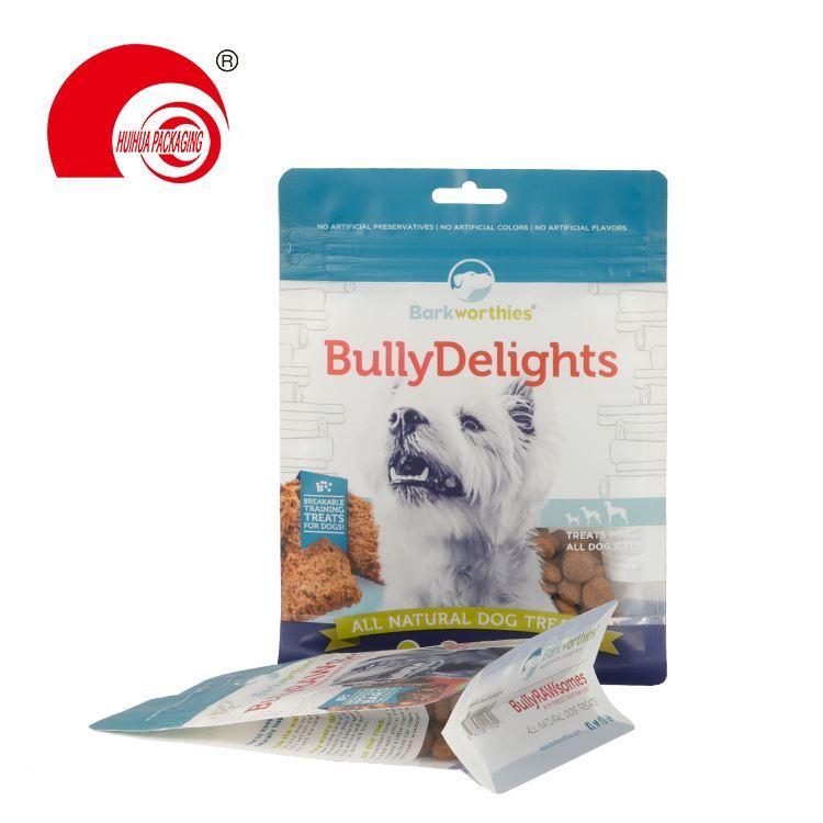 Spot UV Printing Aluminum Foil Custom Printing Ziplock Stand Up Doypack Pet Food Packaging Bag