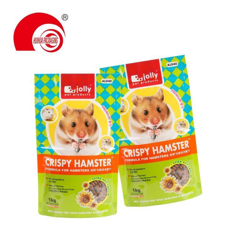 Digital Print 10oz Reusable Stand Up Plastic Zipper Pouches Pet Dog Treats Food Packaging Bag