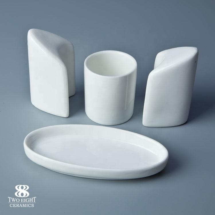 Reasonable Price Restaurant China Porcelain Salt And Pepper Shaker Set, Salt And Pepper Shaker With Toothpick Holder*