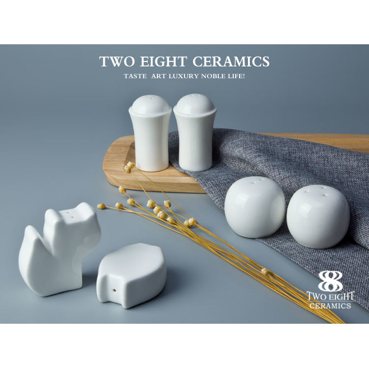 "2.5"" salt and pepper jug 20pcs white porcelain dinner set"