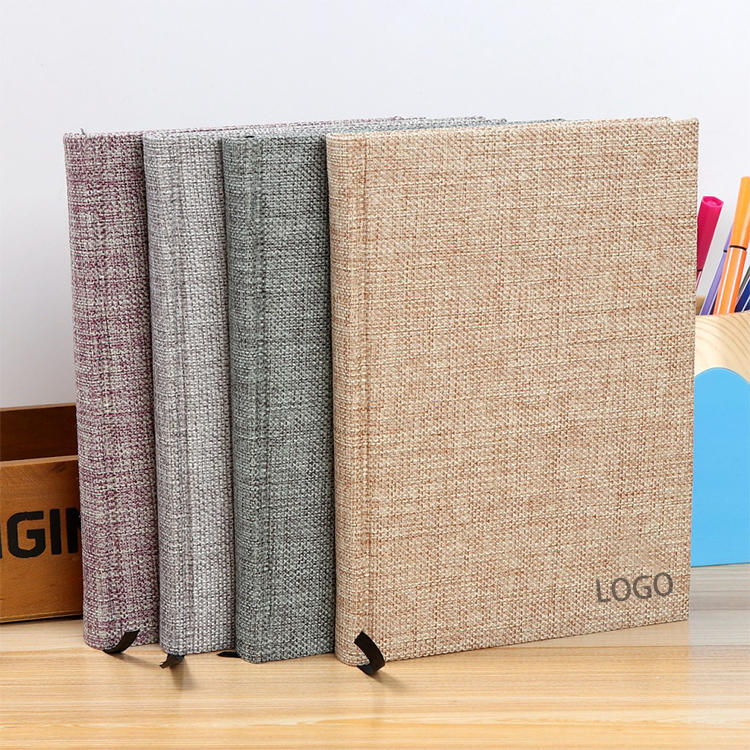 A5 Thick Diary Hardcover Linen Notebooks With Custom Logo Printing