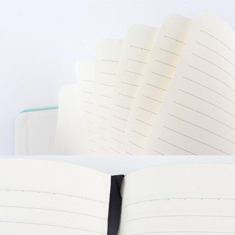 product-Dezheng-Custom A5 Thick Hard Cover Plain Journal Linen Notebook With Elastic Band-img-1