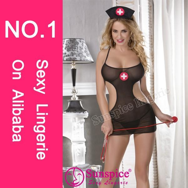 Top supplier Mexico free size sexy nurse cosplay costume for party