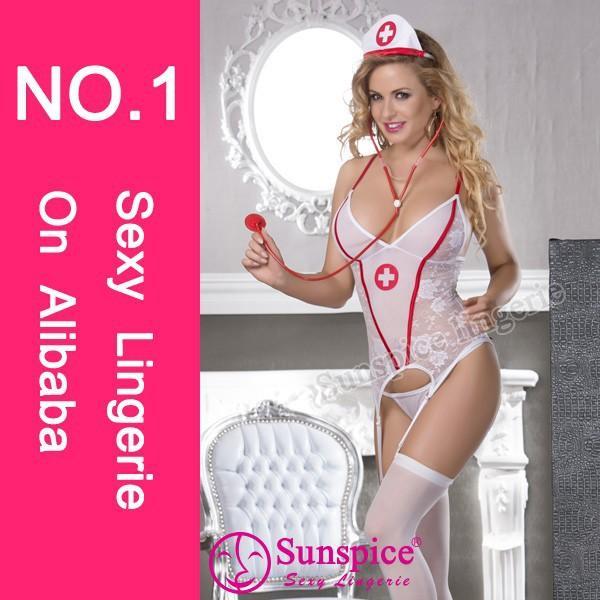 Best selling white Australia free size OEM&ODM sexy nurse photos costume