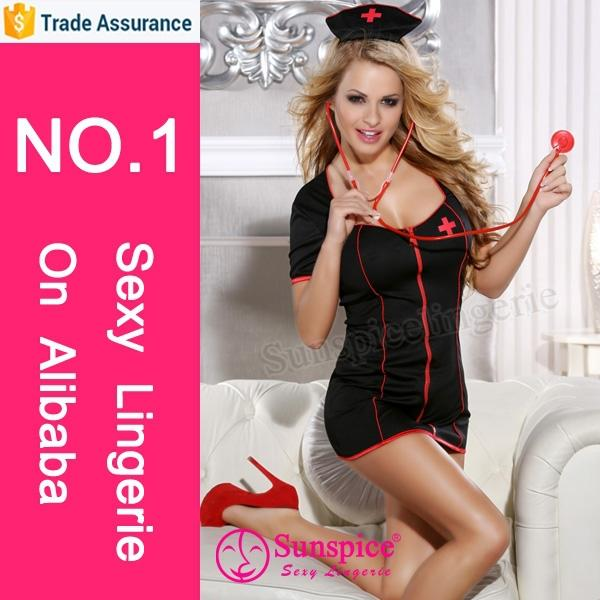 Hot best selling sexy girls photos open new design hospital nurse costume dres