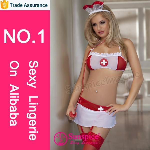 Sunspice hot sales lingerie manufacturer sexy girls photos open hospital nurse costume dres