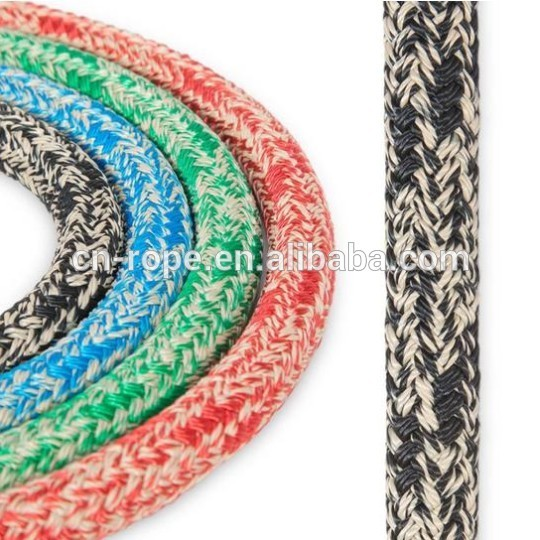 12mm running sailing rope 24 strand double braided polyester material