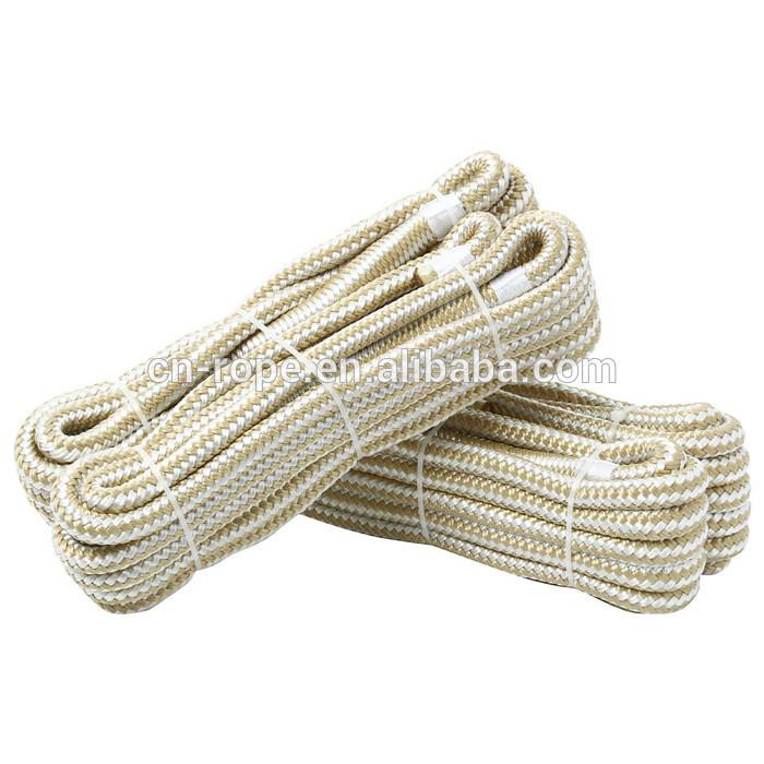 double braided nylon dock line 3/8 inch * 15 ft 2packs