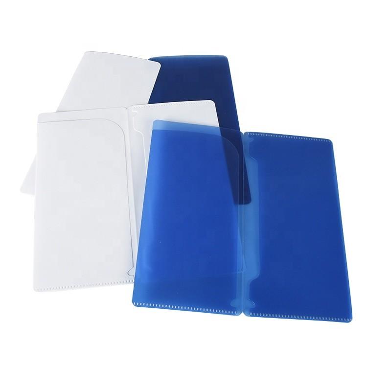 custom logo PP file folder two pockets masked case face masked holder