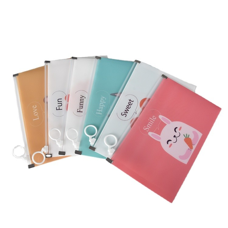 In Stock Portable Envelope Letter Size Zipper Face Cover Masked Storage Bag for School Office Supplies