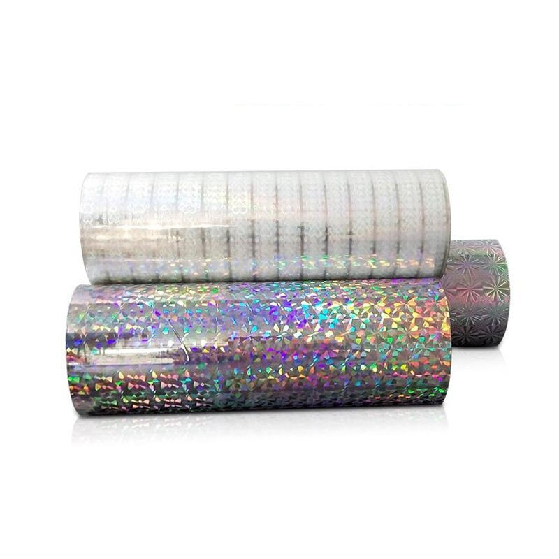 1090mm Seamless Rainbow BOPP Holographic Thermal Laminating Film