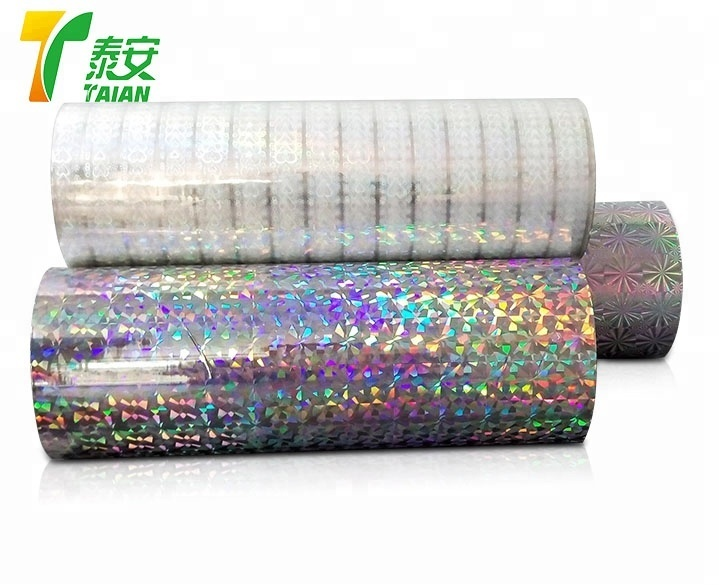Max Width 1090mm Seamless Holographic Bopp Film Rainbow Film Hologram BOPP Film for Lamination