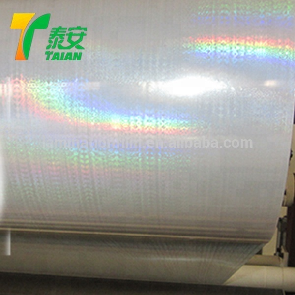 26Micron Seamless Rainbow BOPP Transparent Hologram Cold Lamination Film