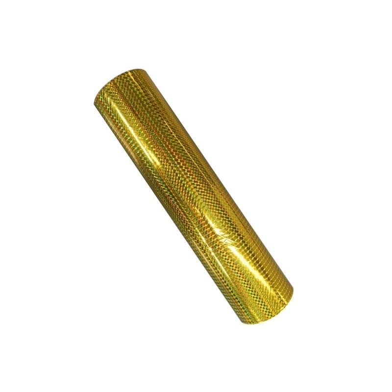 colored bopp film laminated gold metalized pet hologram film