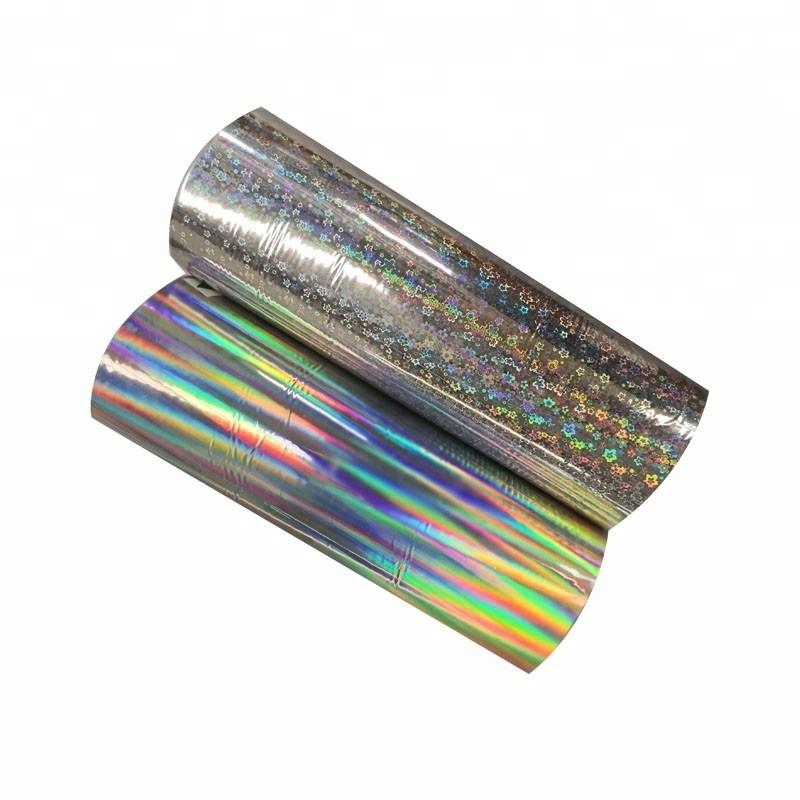 Rainbow Lamination Metalized BOPP/PET Holographic Film