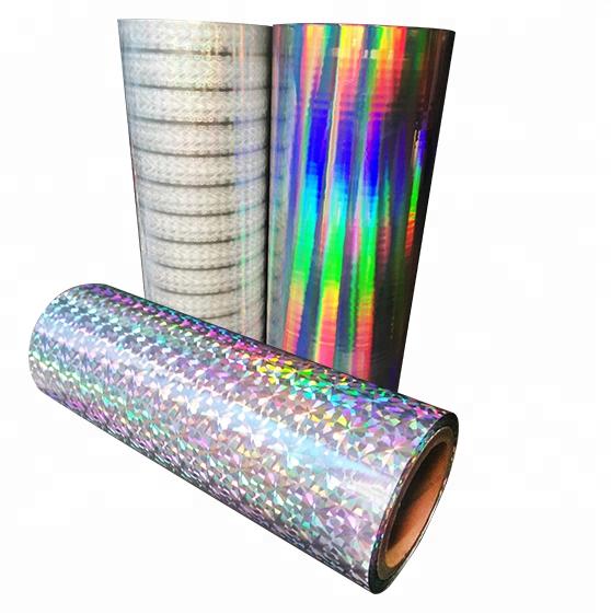 Photo holographic transparent cold lamination film
