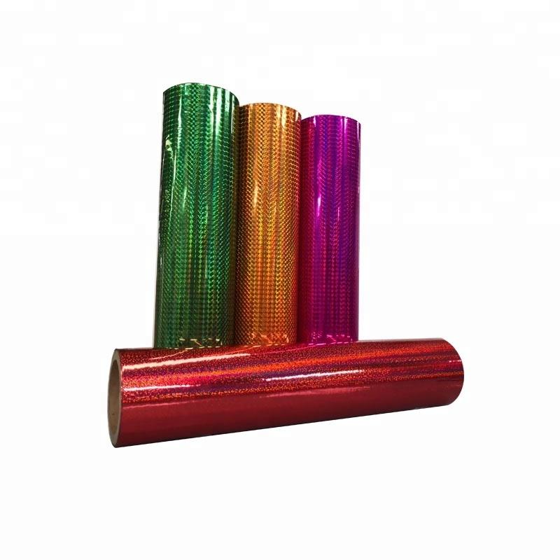 Transparent holographic lamination film heat holographic film for printing