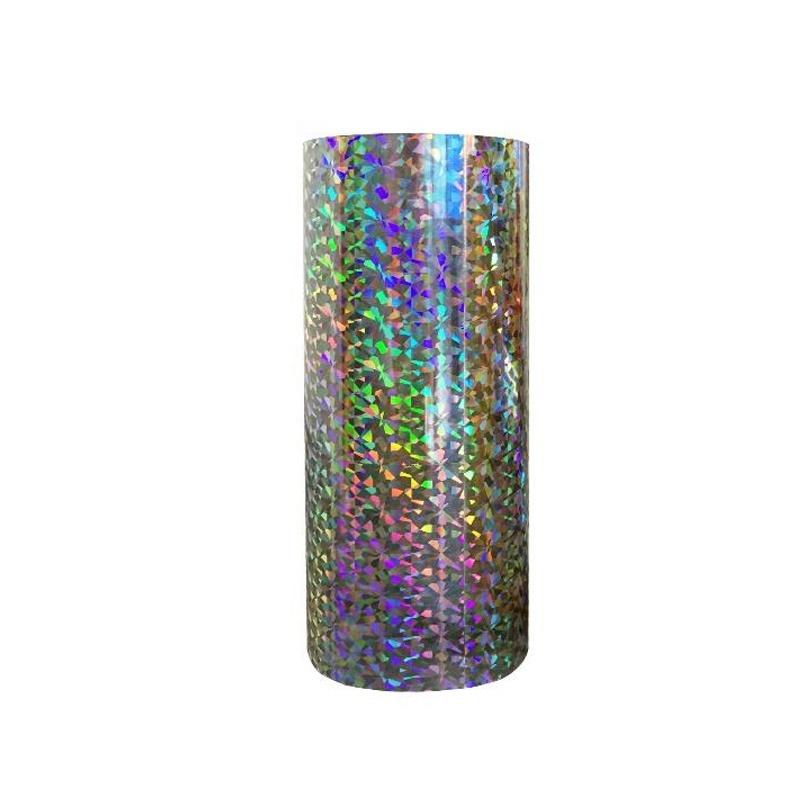 sparkling transparent BOPP plastic holographic film raw material for lamination