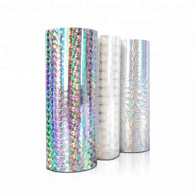 holo transparent film sliver types holographic thermal lamination film for tobacco