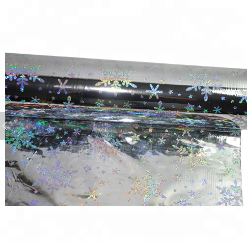 Hot sales Double corona Waterproof Clear Hologram Transparent Holographic film
