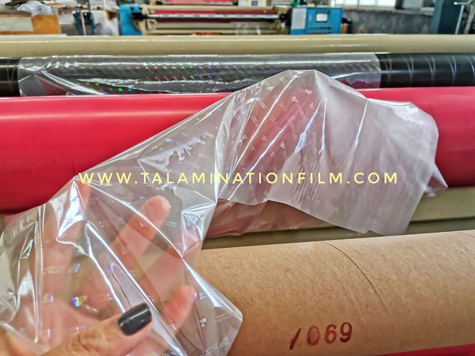 sparkling transparent BOPP plastic holographic film raw material for lamination