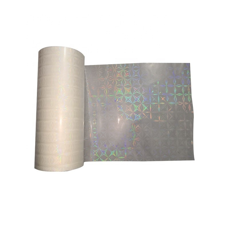 Good quality Transparent Holographic BOPP Thermal Lamination Film plastic roll film