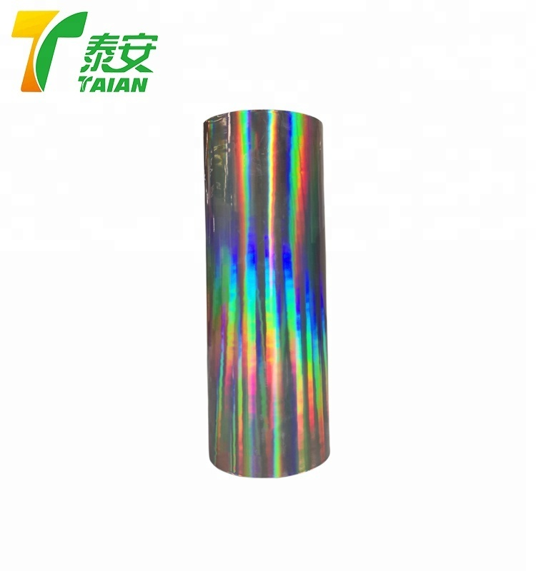 Colorful printing PET BOPP + EVA Holographic Lamination Film for paper board