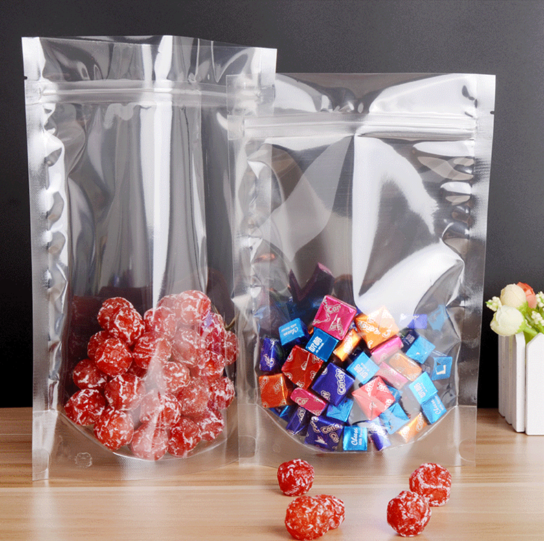 Kolysen Full Transparent Zip Lock Pouch Clear Plastic Smell Proof Zipper Clear Packaging Bag Stand UP Pouches